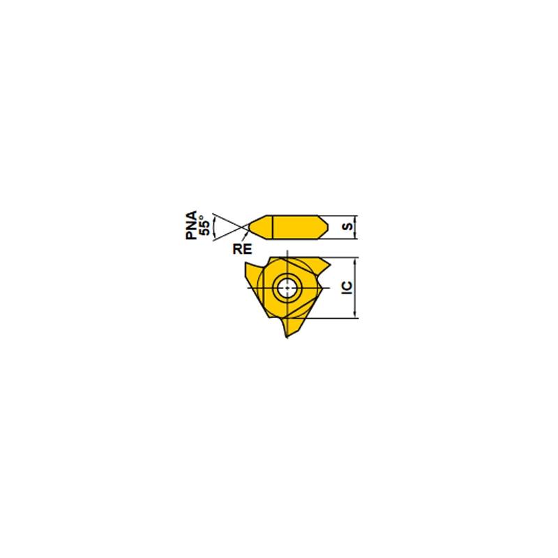 PLAQUITAS PARA TORNO MTTR 435502 UTI20T ROSCAR EXTERIORES 55º (10 Uds.)