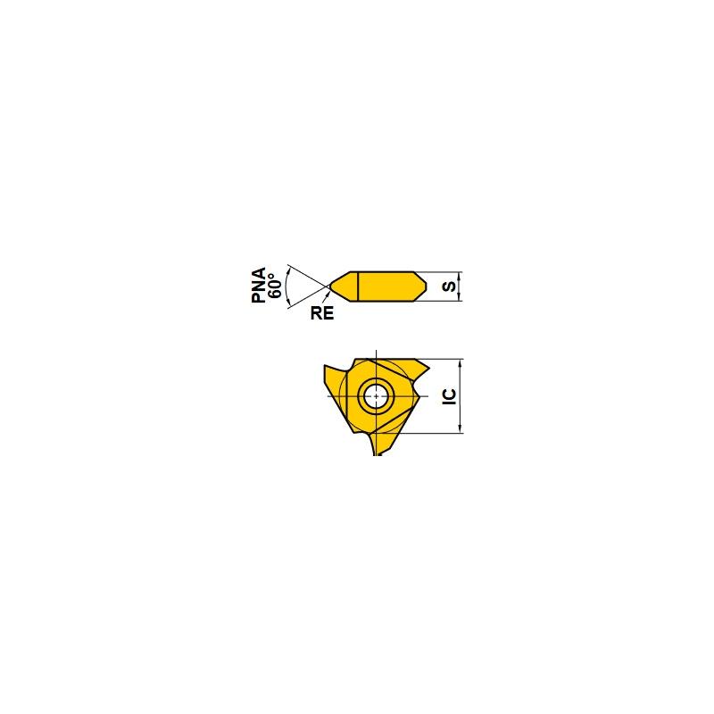 PLAQUITAS PARA TORNO MTTR 436002 UTI20T ROSCAR EXTERIORES 60º (10 Uds.)